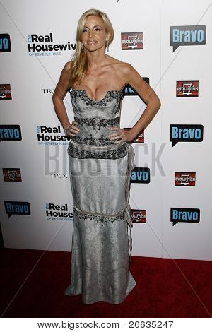 BEVERLY HILLS - OCT 11:  Camille Grammer at the Bravo's 'The Real Housewives of Beverly Hills' series party at Trousdale, Beverly Hills, California on October 11, 2010.