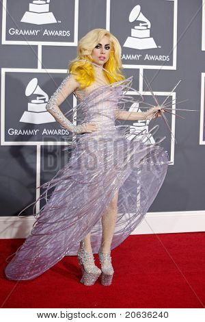Los Angeles jan 31: Lady gaga Ankunft bei der 52nd annual Grammy Awards statt im Staples Center in