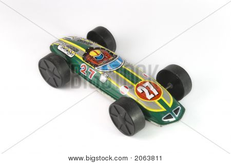Green Race Car