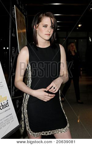 WEST HOLLYWOOD - FEB 18: Kristen Stewart arriving at the premiere of 'The Yellow Handkerchief' held at the Pacific Design Center in West Hollywood, California on February 18,  2010.