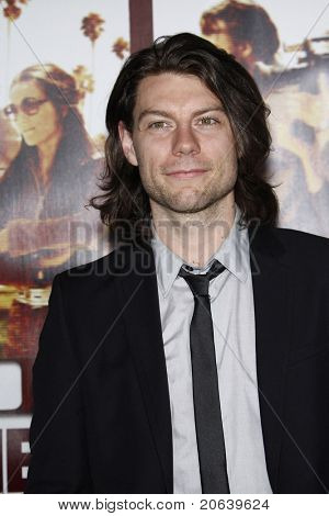 LOS ANGELES - APR 11:  Patrick Fugit arriving at the LA premiere of HBO Films 'Cinema Verite' at Paramount Studios in Los Angeles, California on April 11, 2011.