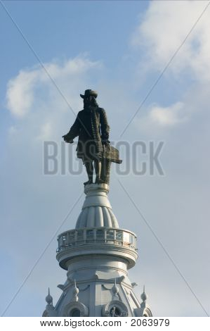Philadelphia - Statue Of William Penn On Top Of City Hall
