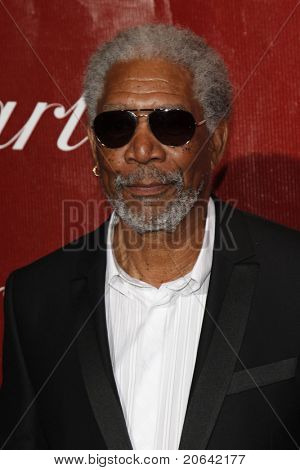 PALM SPRINGS, CA  - JAN 6:  Morgan Freeman at the 2010 Palm Springs International Film Festival gala held at the Palm Springs Convention Center on January 6, 2010  in Palm Springs, California.