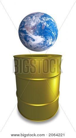 New Oil Drum And Earth