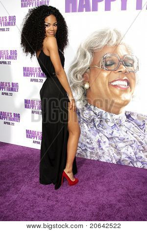 "LOS ANGELES - APR 19:  Teyana Taylor at the ""Madea's Big Happy Family"" Premiere at ArcLight Cinemas Cinerama Dome in Los Angeles, California on April 19, 2011."