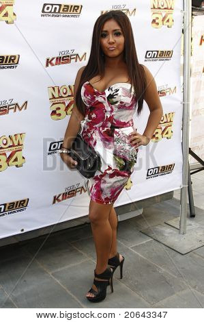 LOS ANGELES - JUL 11:  Nicole Snooki Polizzi at the KIIS-FM 'Now 34 And The Jersey Shore' party held at Hollywood Tower, Los Angeles, California on July 11, 2011.