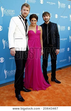 LAS VEGAS - APR 18:  Hillary Scott with Lady Antebellum at the 45th Annual Academy of Country Music Awards held the MGM Grand Garden Arena in Las Vegas, Nevada on April 18, 2010.