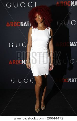 WEST HOLLYWOOD - FEB 13:  Rihanna at the Gucci and RocNation Pre-GRAMMY Brunch in West Hollywood, California on February 13, 2011.