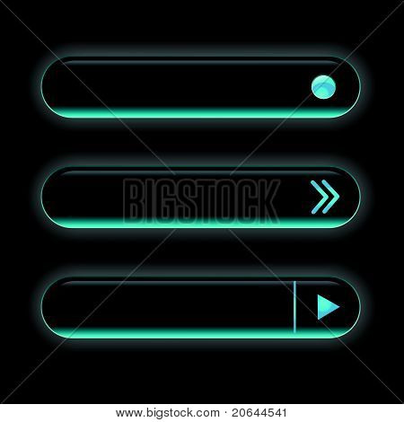 Website black buttons bars set template