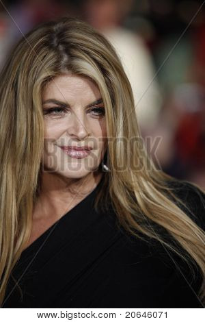 ANAHEIM - MAY 7: Kirstie Alley at the world premiere of 'Pirates of the Caribbean: On Stranger Tides' held at Disneyland in Anaheim, CA on May 7, 2011.