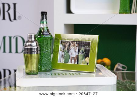 WEST HOLLYWOOD, CA - MAY 10: Midori Melon Liqueur at the Midori Melon Liqueur Trunk Show at Trousdale on May 10, 2011 in West Hollywood, California