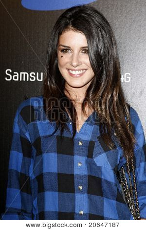 LOS ANGELES - MAY 12:  Shanae Grimes at the launch party of the SAMSUNG INFUSE 4G at Milk Studios in Los Angeles, California on May 12, 2011.