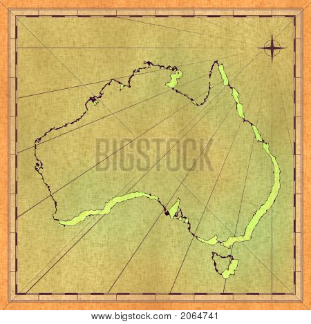 Rendered Map Of Australia
