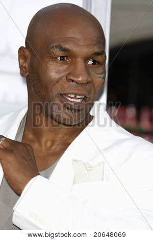 LOS ANGELES - MAY 19: Mike Tyson at the premiere of 'The Hangover Part II' held at the Grauman's Chinese Theater in Los Angeles, CA on May 19, 2011.