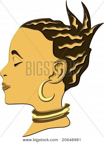 gold african woman
