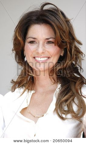 LOS ANGELES - JUN 2: Shania Twain at a ceremony where Shania Twain gets honored with a star on the Hollywood Walk of Fame in Los Angeles, California on June 2, 2011.