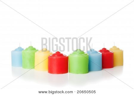 Short Candles Isolated
