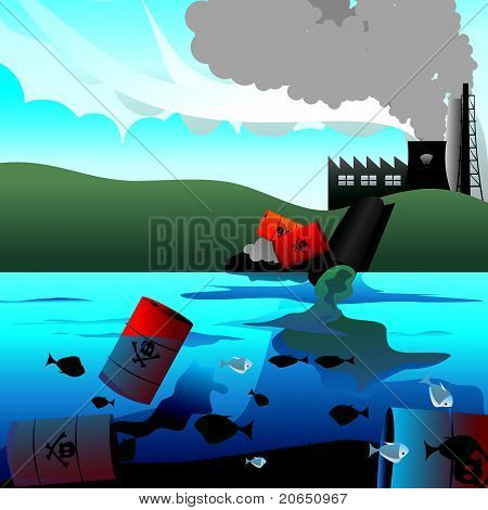 nuclear waste vector illustration