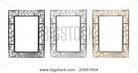 Set Of Frames For Photos Isolated On A White Background