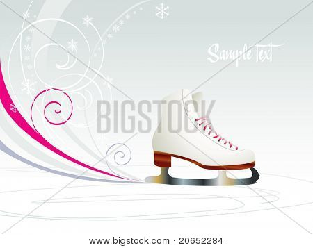 Background with skates