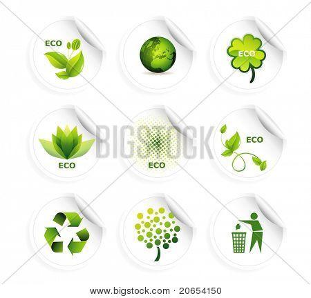 Satz von Ökologie Ikonen eps10