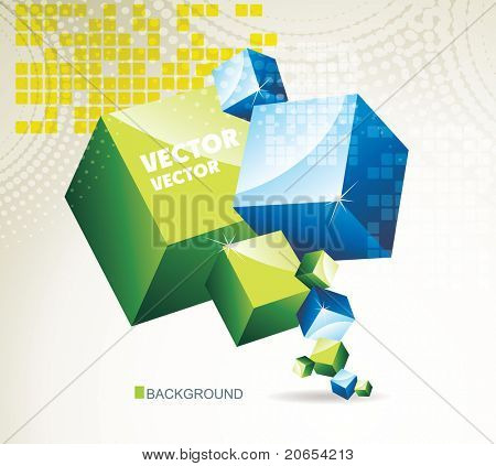 3d abstract background 10eps