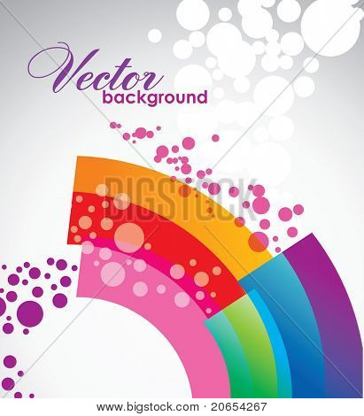 Abstract wavy vector design 10eps