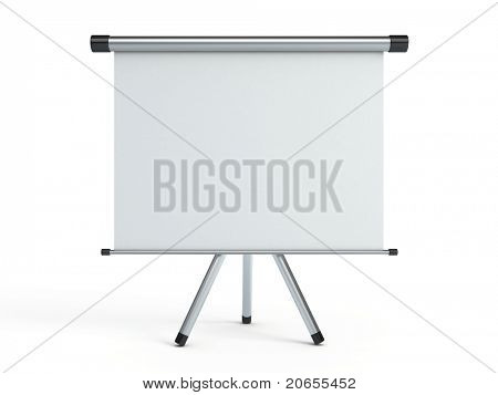 Blank portable projection screen