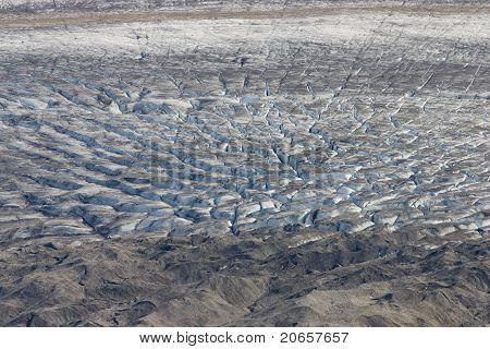 Glacier crevasses