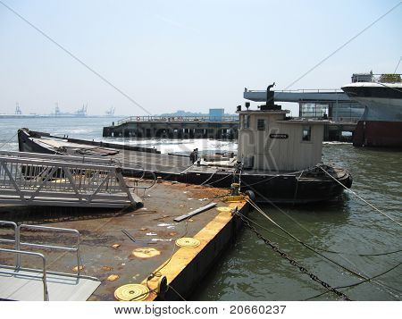 Tug Boat at South Street Seaport in New York City