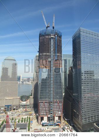 Freedom Tower Area under construction in New York City