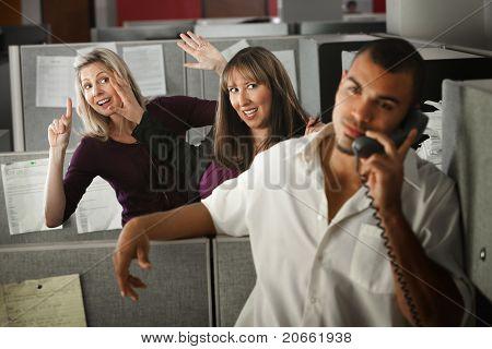Office Women Flirting