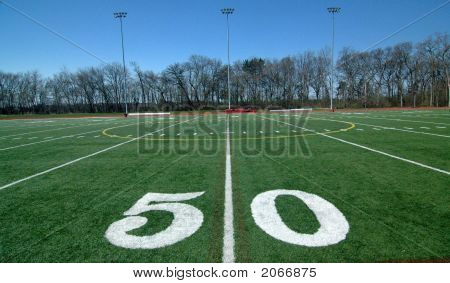 Football Field 50 Yard Line