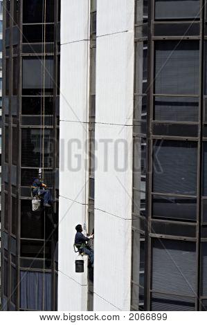 Window Washers On Highrise