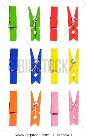 Wooden Clothes Pin Color