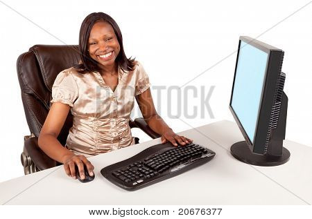 Smiling and Beautiful African American Businesswoman