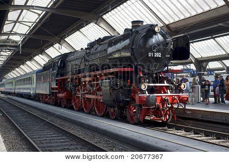 Steam Train Awaiting Departure