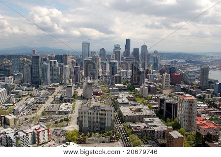 Seattle Skyline from Space Needle