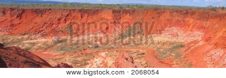 Canyon With Peaks, Red Tsingy, Antsiranana And Diego Suarez, Madagascar, Panoramique