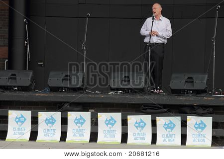 Brisbane, Australia - June 6 : World Visions Reverend Tim Costello Addresses Rally At Say Yes Protes