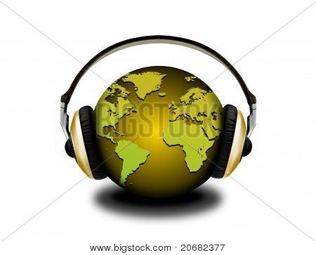 Headphones And Globe