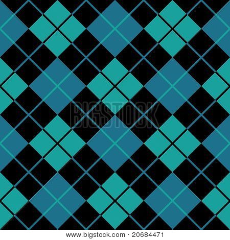 Argyle Blue Seamless Background