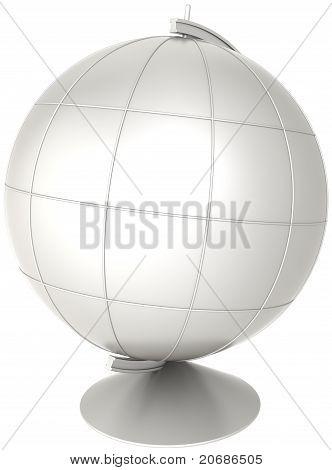 Blank globe desktop Earth planet white