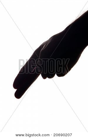 Silhouette Of Man's Hand