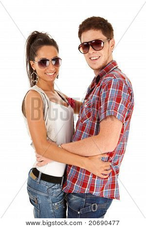 Man And Woman Couple Wearing Sunglasses