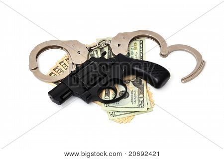 Revolver,  Dollars And The Handcuffs