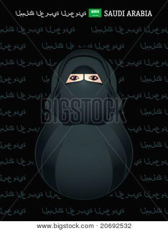 Matryoshkas of the World: Saudi Arabian girl in niqab