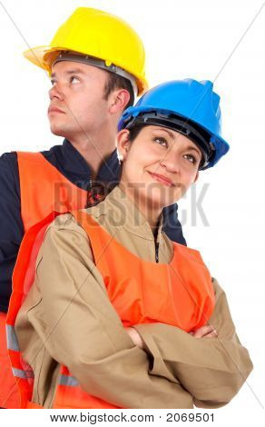 Couple Of Construction Workers