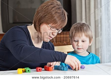 Mother And Son Playing Together