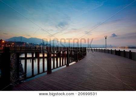 Tamsui Sunset, new Taipei, Taiwan